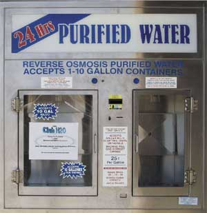 Window vending machines for purified water